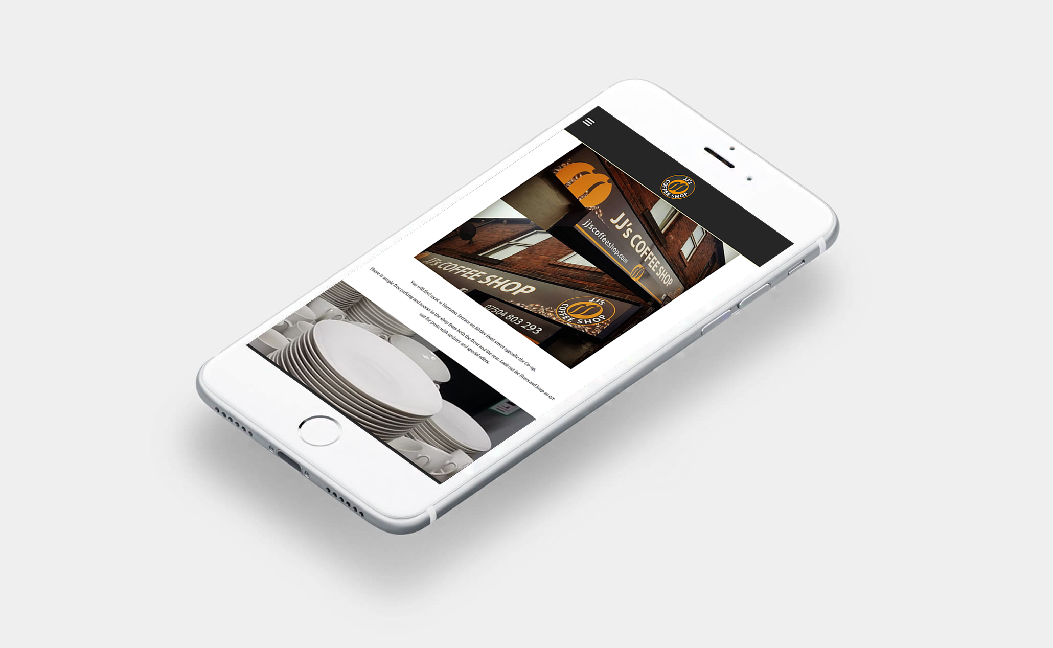 <p>JJ's located on Birtley High Street are a fantastic local coffee shop who required a simple website turned around very quickly for their opening. Working closely with the client we were able to produce a minimalist 1 page website in one day with hosting and new email address.</p>